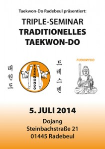 Triple-Seminar Taekwon-Do 5. Juli 2014
